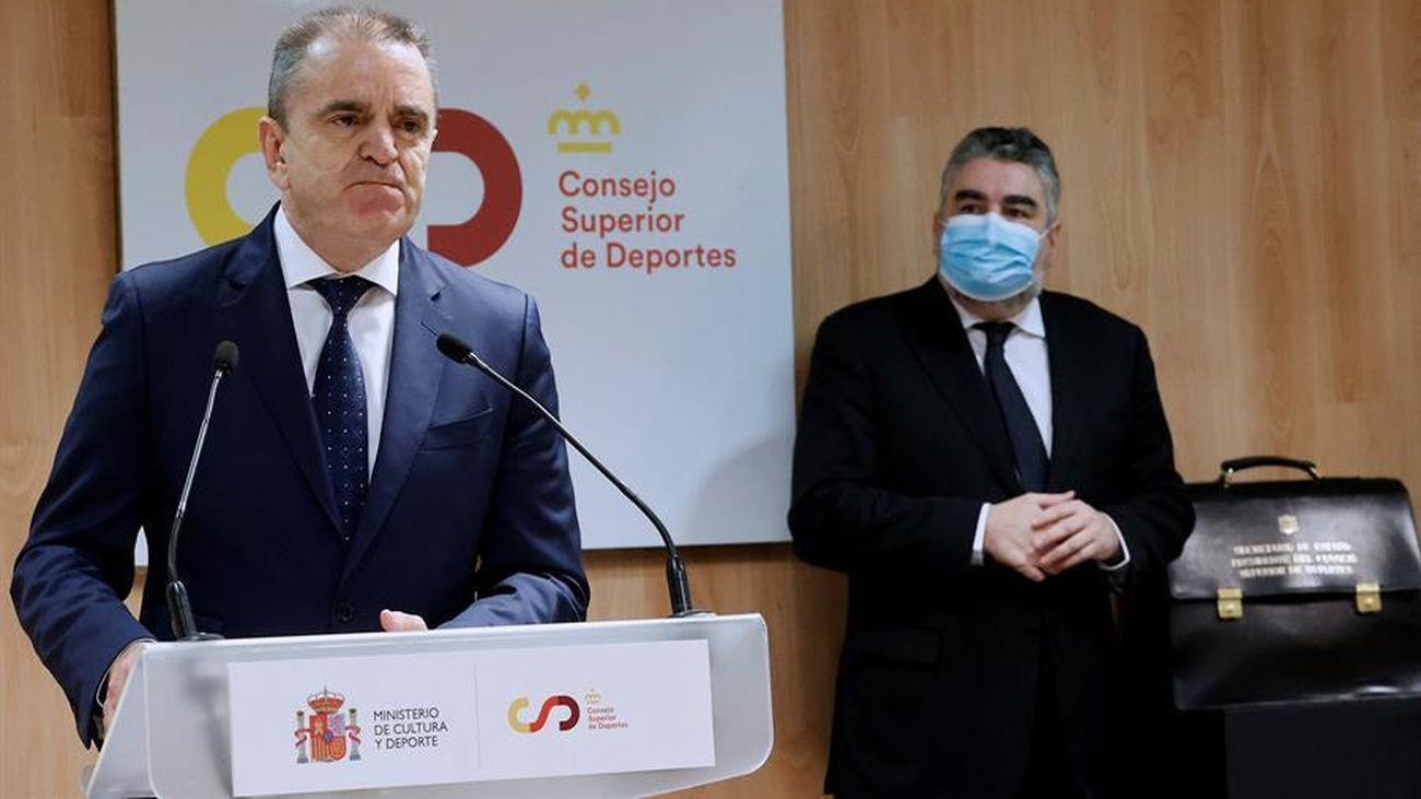 """Franco: """"Me comprometo a impulsar decididamente una nueva Ley del Deporte"""""""