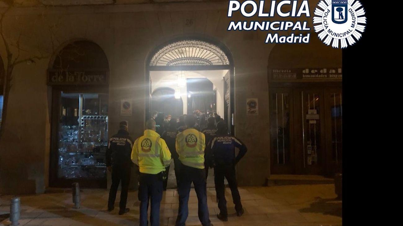 La Policía Municipal desaloja una fiesta ilegal