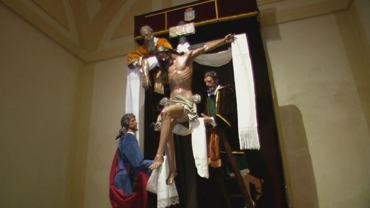 Música dirigida al vía crucis de la Soledad Coronada en Alcalá de Henares