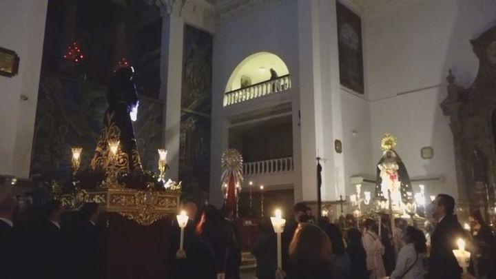 Sin procesión en la Basílica de Jesús de Medinaceli celebran el vía crucis dentro del templo