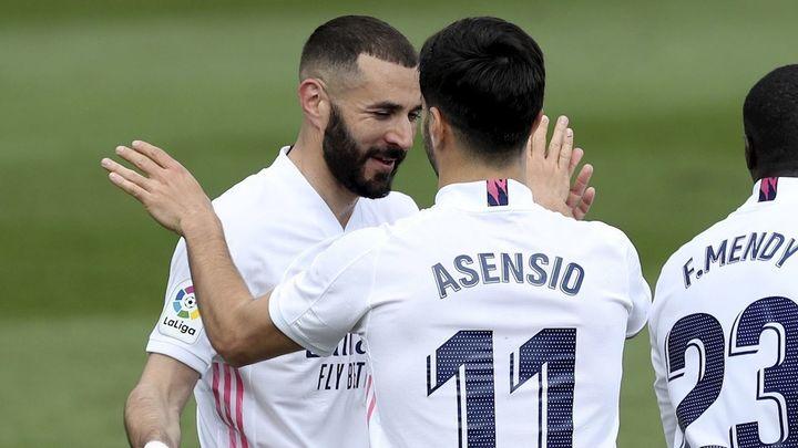 2-0. Asensio y Benzema extienden la racha antes del Liverpool