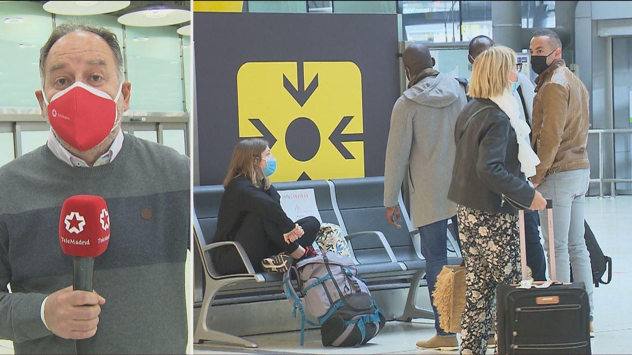 Aterrizan en Barajas seis vuelos procedentes de Francia a escasas horas de un nuevo confinamiento