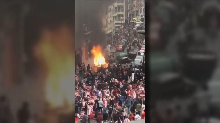 Incidentes en Bilbao antes de la final de fútbol, con una joven trasladada al hospital