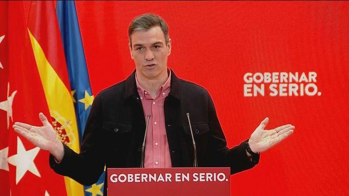 Sánchez se lanza contra  Ayuso y la acusa de hacer circular el virus