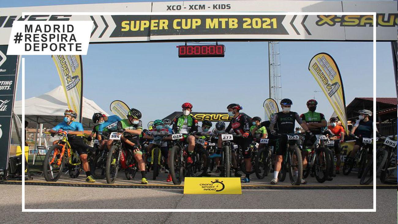 Salida de la Super Cup MTB de maratón en Villa del Prado