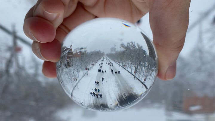La fotografía ganadora de 'Madrid, Filomena a mi pesar'