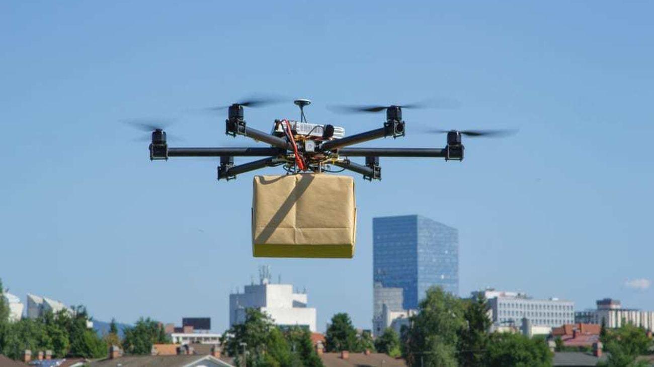 El reparto de mercancía a través de drones ya es una realidad en Madrid