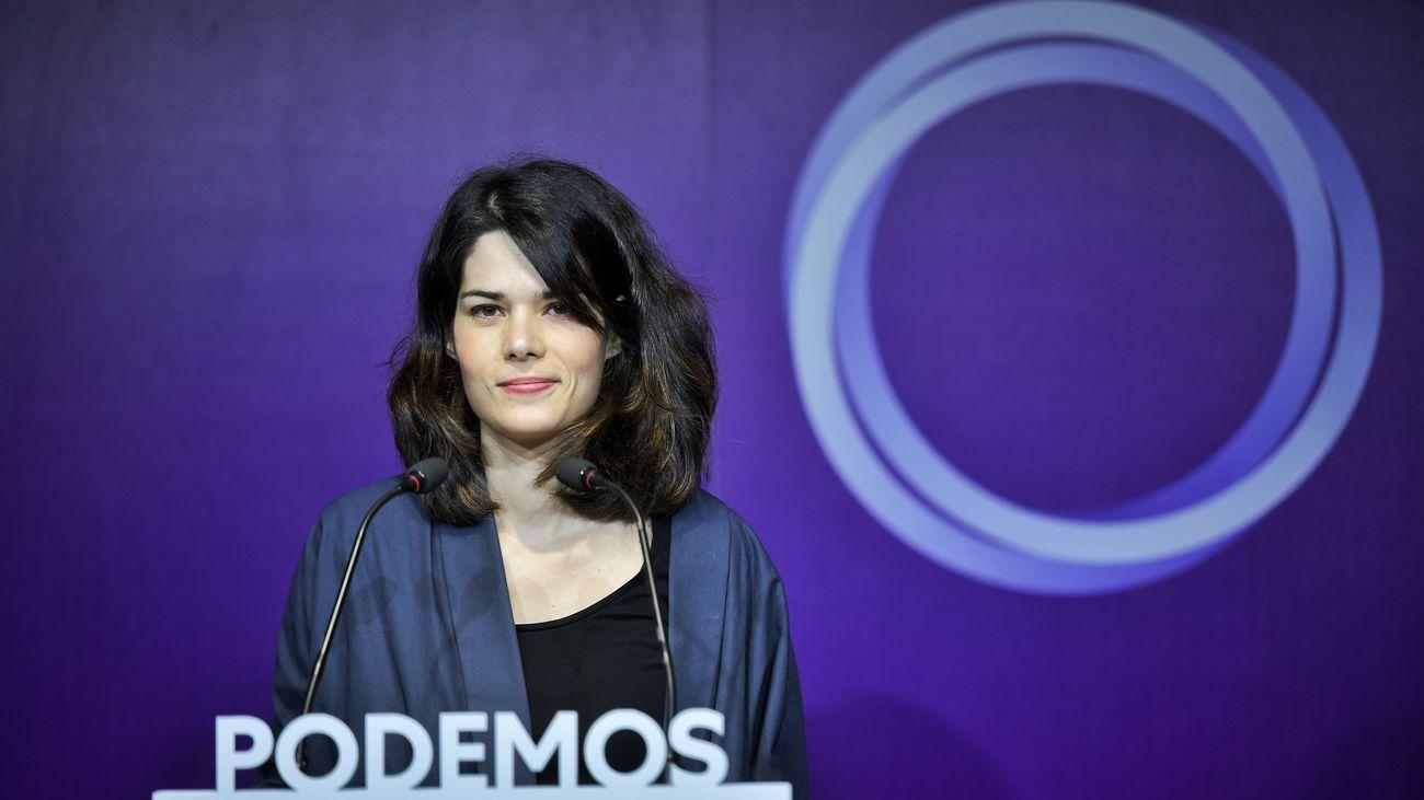 Isa Serra, número dos de la candidatura de Unidas Podemos a las elecciones autonómicas de Madrid