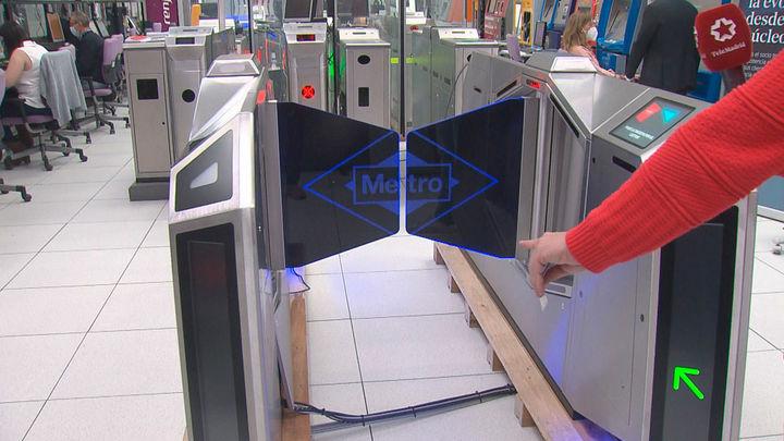 Los nuevos tornos de Metro de Madrid, ergonómicos y vanguardistas, se estrenarán en la estación de Gran Vía