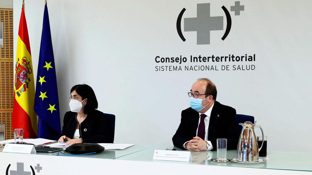 Carolina Darias y Miquel Iceta en el Consejo Interterritorial de Salud