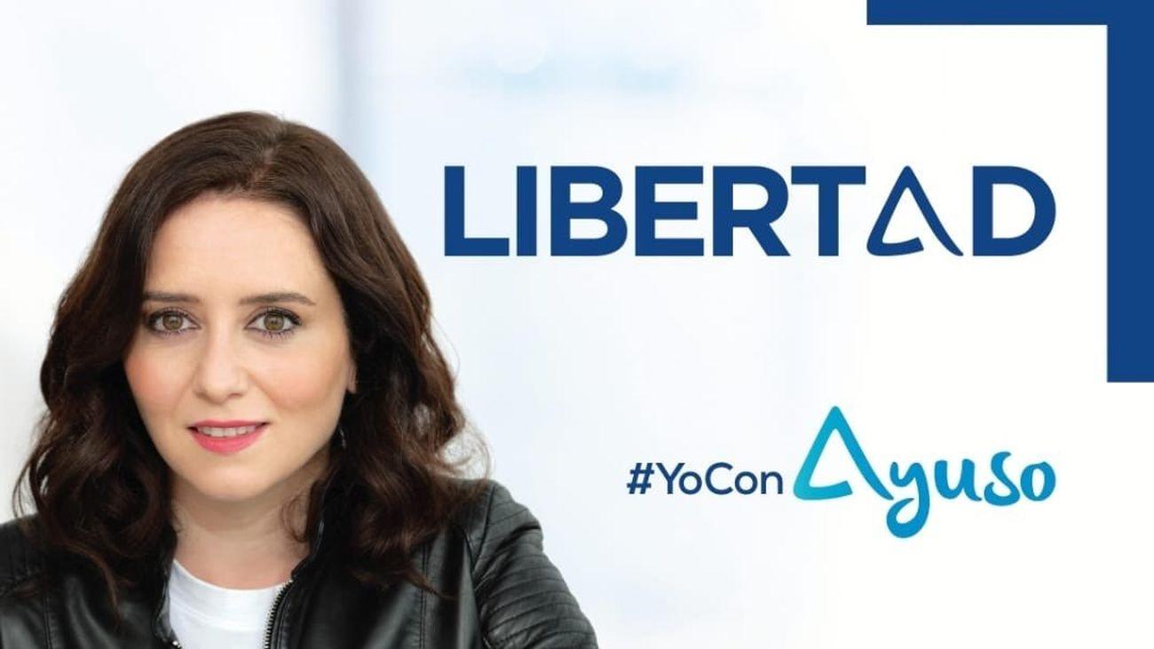 Cartel electoral de la presidenta y candidata popular a la Asamblea de Madrid