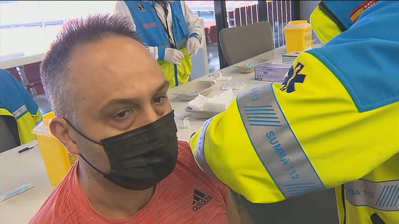 Vacuna contra el Covid-19 en el Wanda Metropolitano