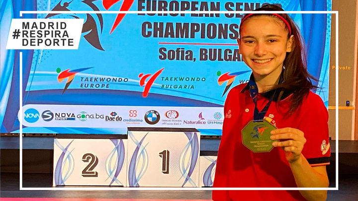 Los madrileños Adriana Cerezo, campeona de Europa con solo 17 años, y Adrián Vicente, subcampeón