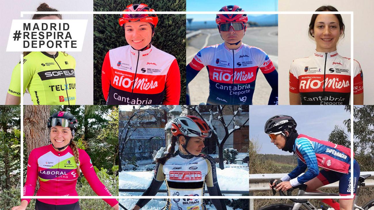 Ciclistas madrileñas