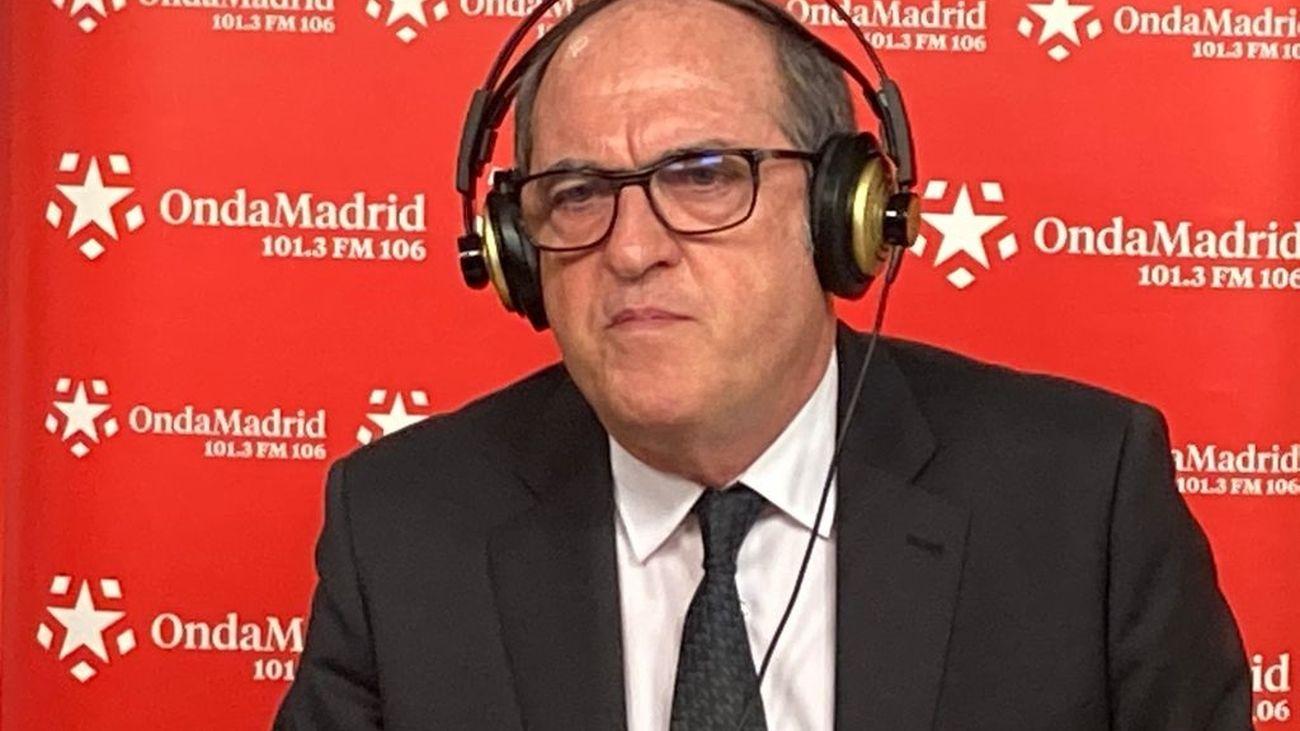 El candidato del PSOE a las elecciones autonómicas del 4M, Ángel Gabilondo