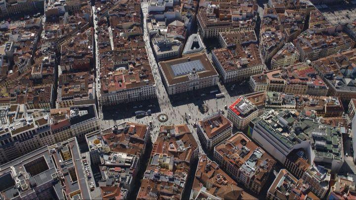 Madrid desde el aire: Madrid, el corazón