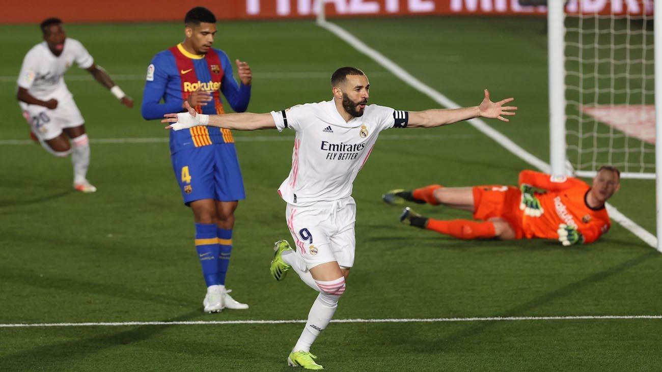 Benzema ante el Barça