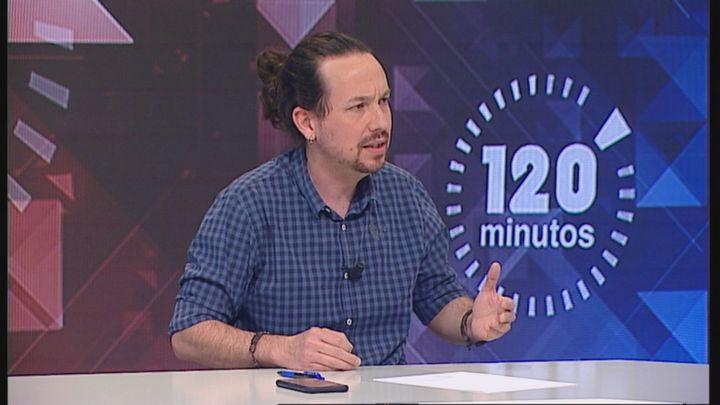 """Pablo Iglesias, en Telemadrid: """"No puede ser que desde el barrio de Salamanca se dicten las políticas de Vallecas"""""""