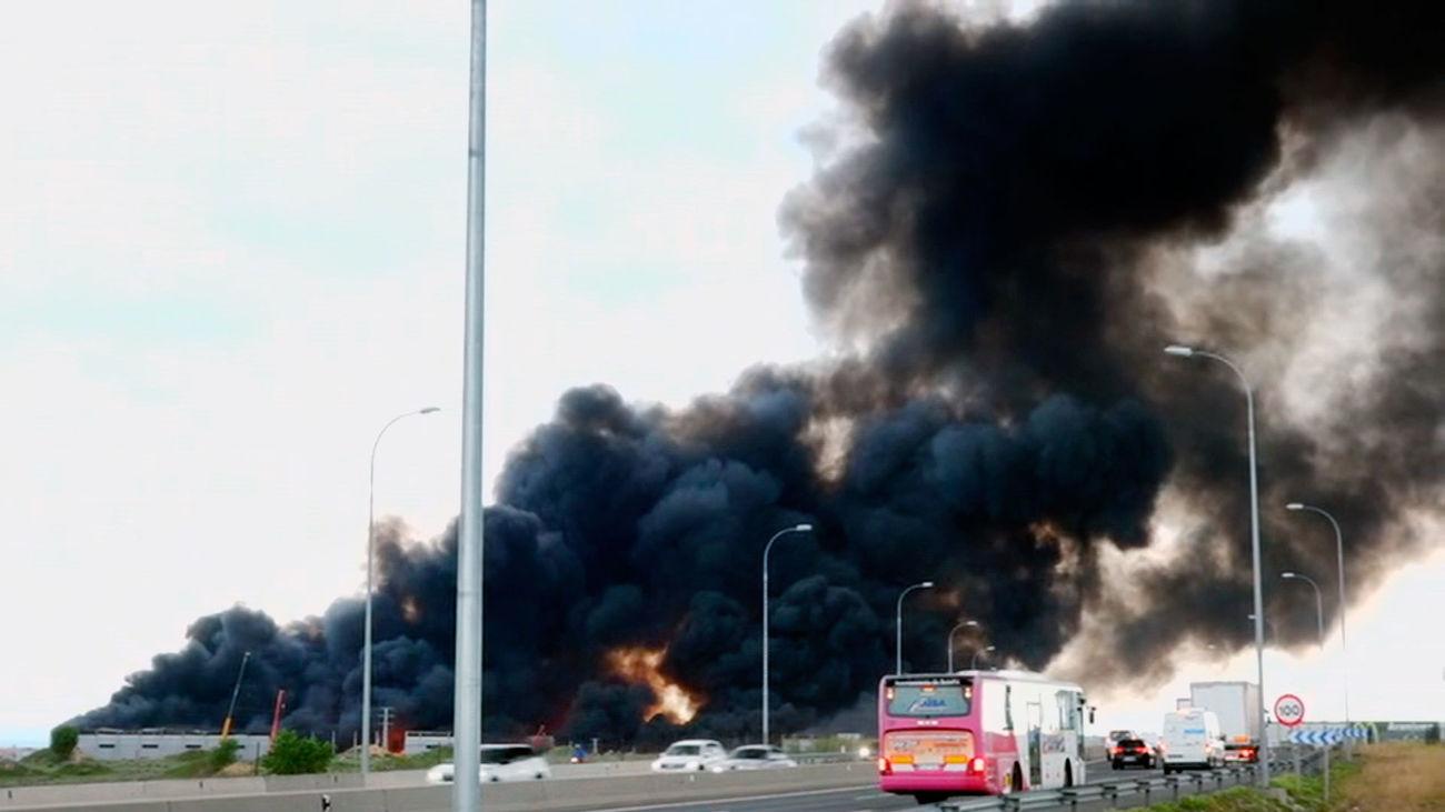 Gran incendio en Seseña