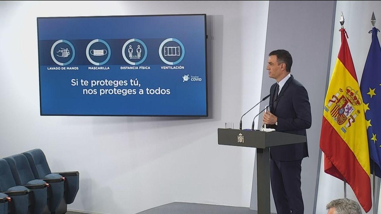 """Sánchez afirma que los """"parones"""" demuestran las garantías de las vacunas"""