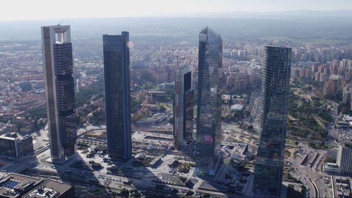 Las cuatro torres que coronan Madrid