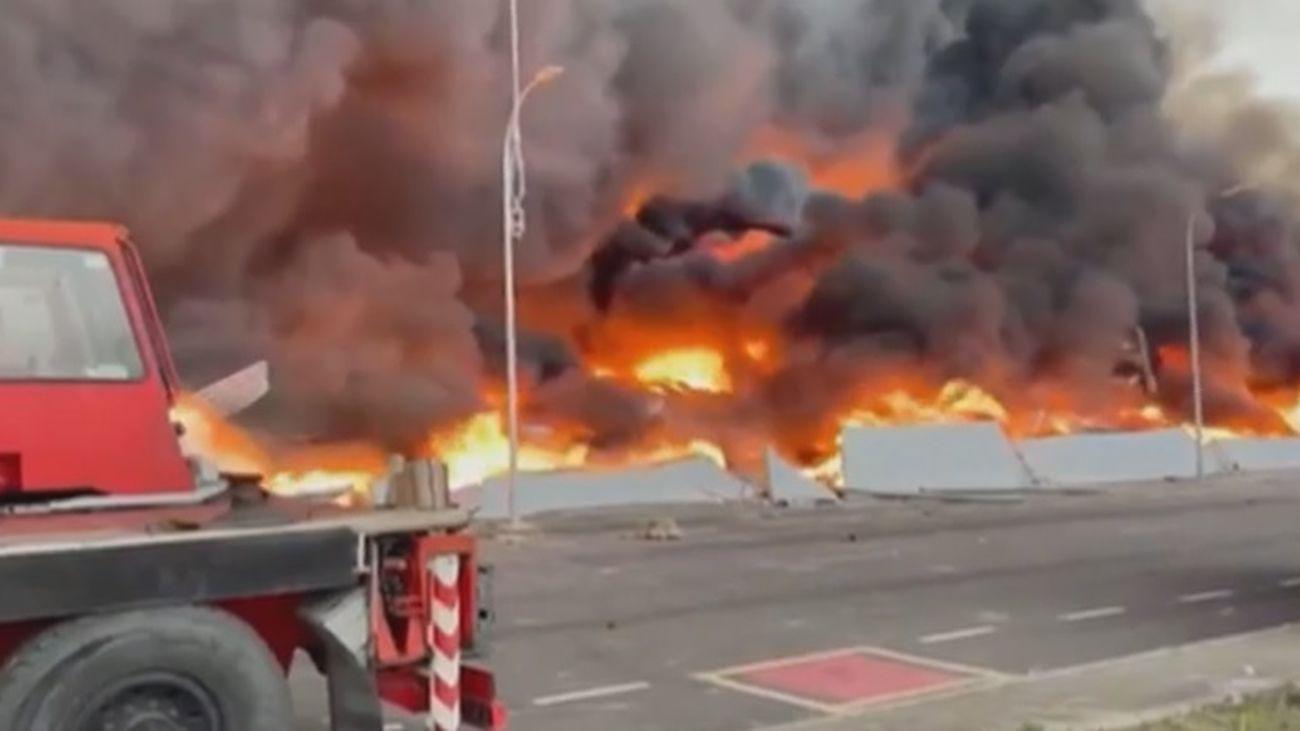 Impactantes imágenes del incendio de Seseña