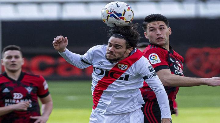 0-1. El Mirandés castiga al Rayo Vallecano