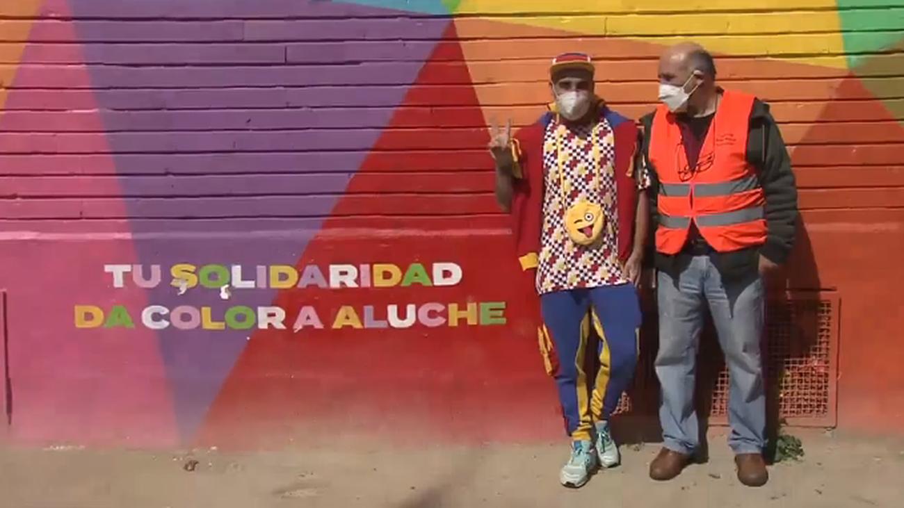 Color en Aluche para expresar gratitud y alegría en medio de la pandemia