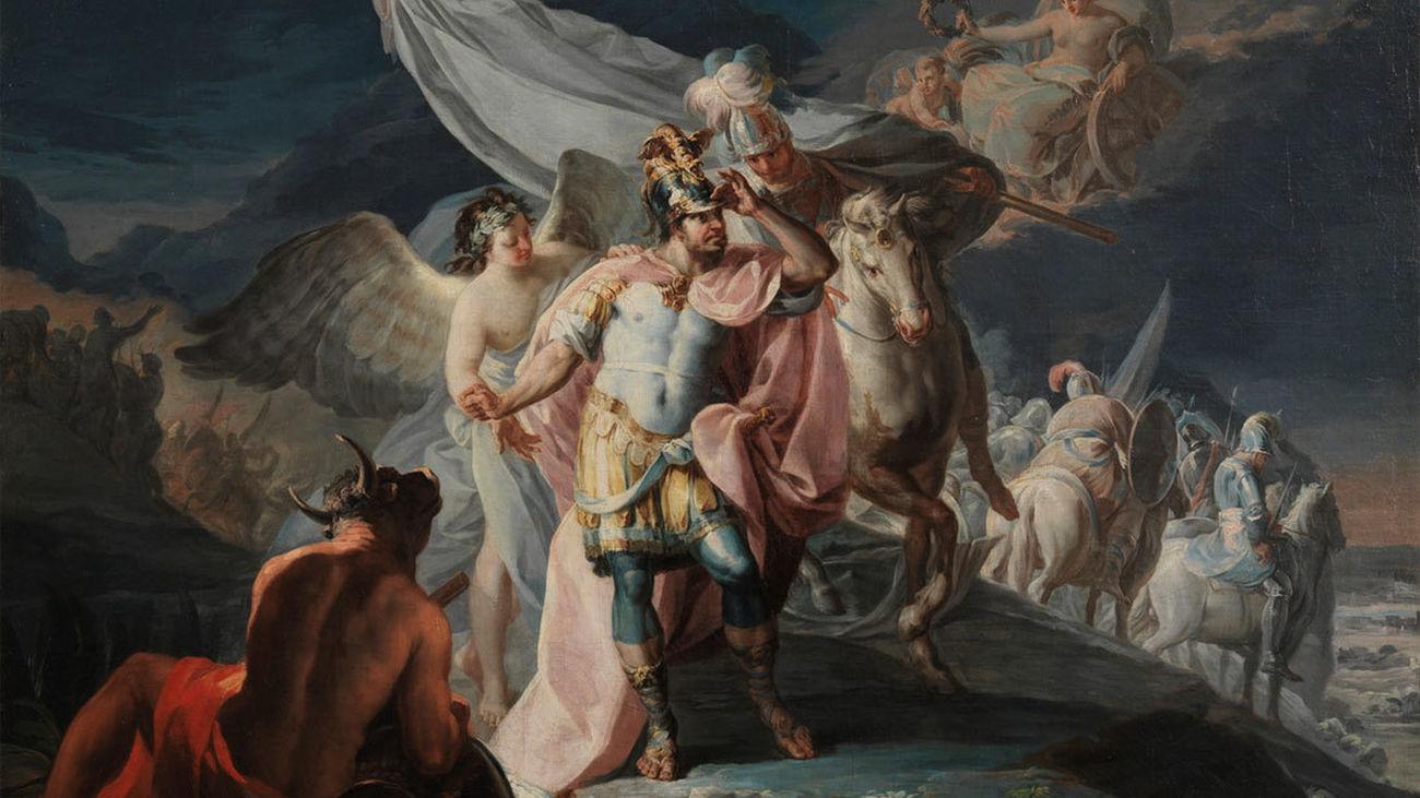 """""""Aníbal vencedor, que por primera vez mira Italia desde los Alpes"""", de Goya"""