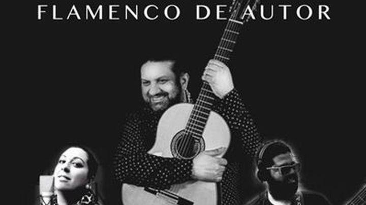 José y Joni Losada con Loli Abadía en las jornadas flamencas del Centro 'Amor de Dios'