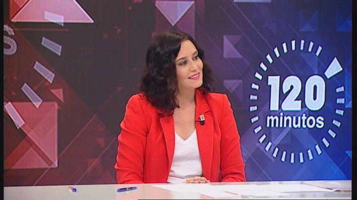 """Díaz Ayuso, en Telemadrid: """"Quiero un debate, será un placer hacerlo donde se decida"""""""