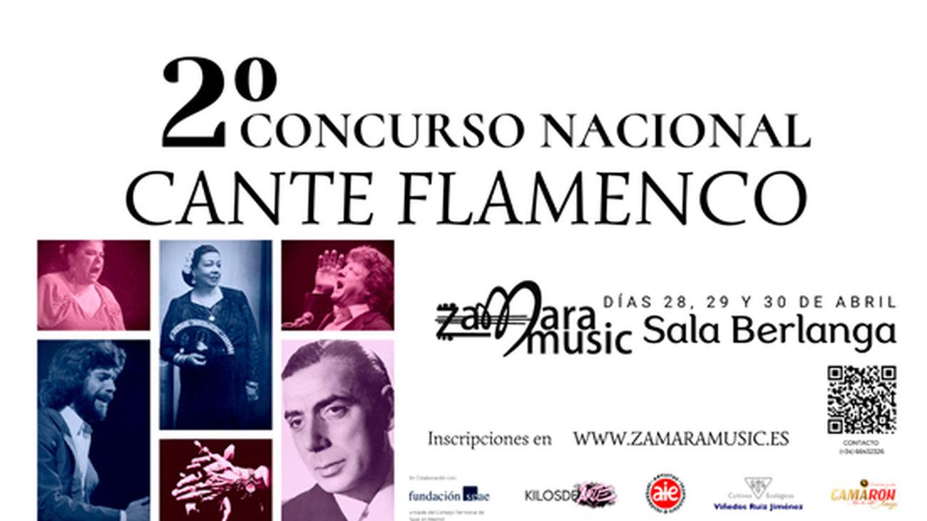Segunda edición del Concurso Nacional de Cante Flamenco Zamara Music