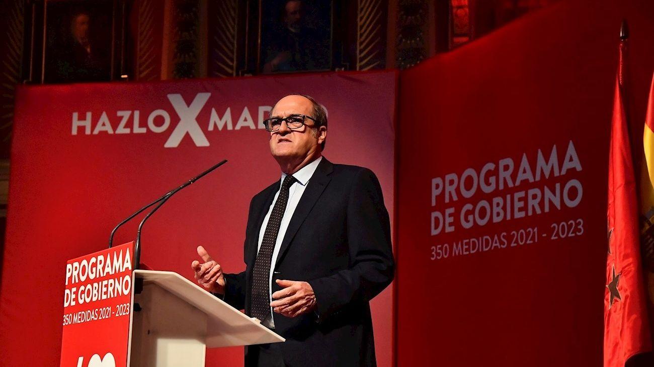 Ángel Gabilondo, candidato del PSOE, en la presentación del programa electoral para las elecciones a la Asamblea de Madrid