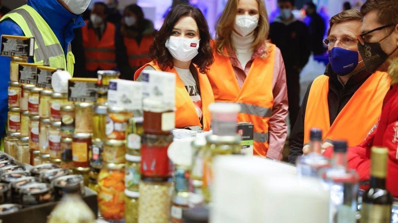 Ayuso y Almeida Almeida agradecen a Mercamadrid y la Comunidad el esfuerzo durante la pandemia y Filomena