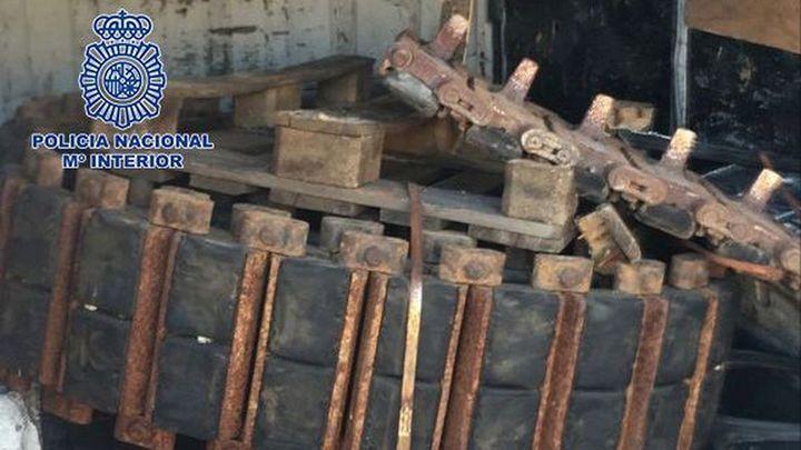 Seis detenidos en Móstoles por robar cadenas de tanques y excavadoras