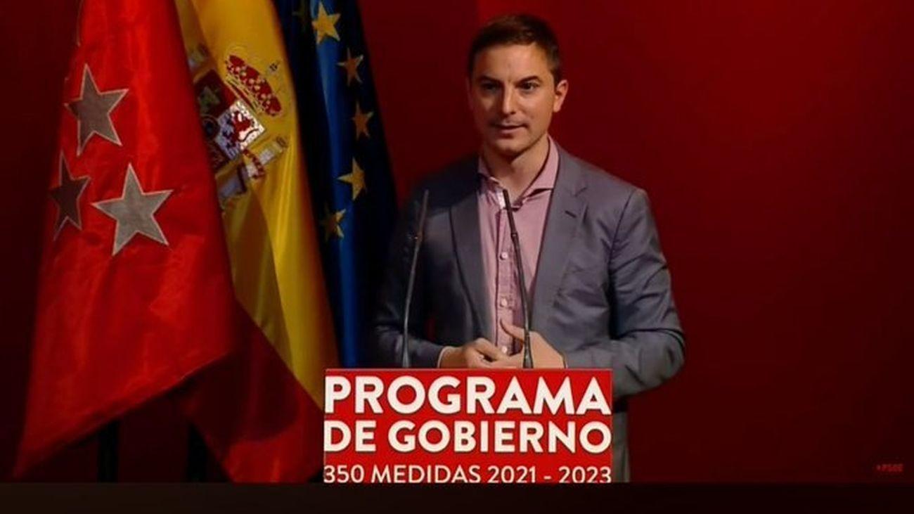 Juan Lobato, número 4 de la lista del PSOE a la Asamblea de Madrid