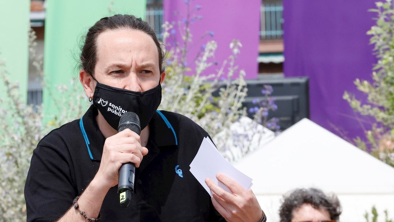 Pablo Iglesias, candidato de Unidas Podemos, en un acto preelectoral este viernes
