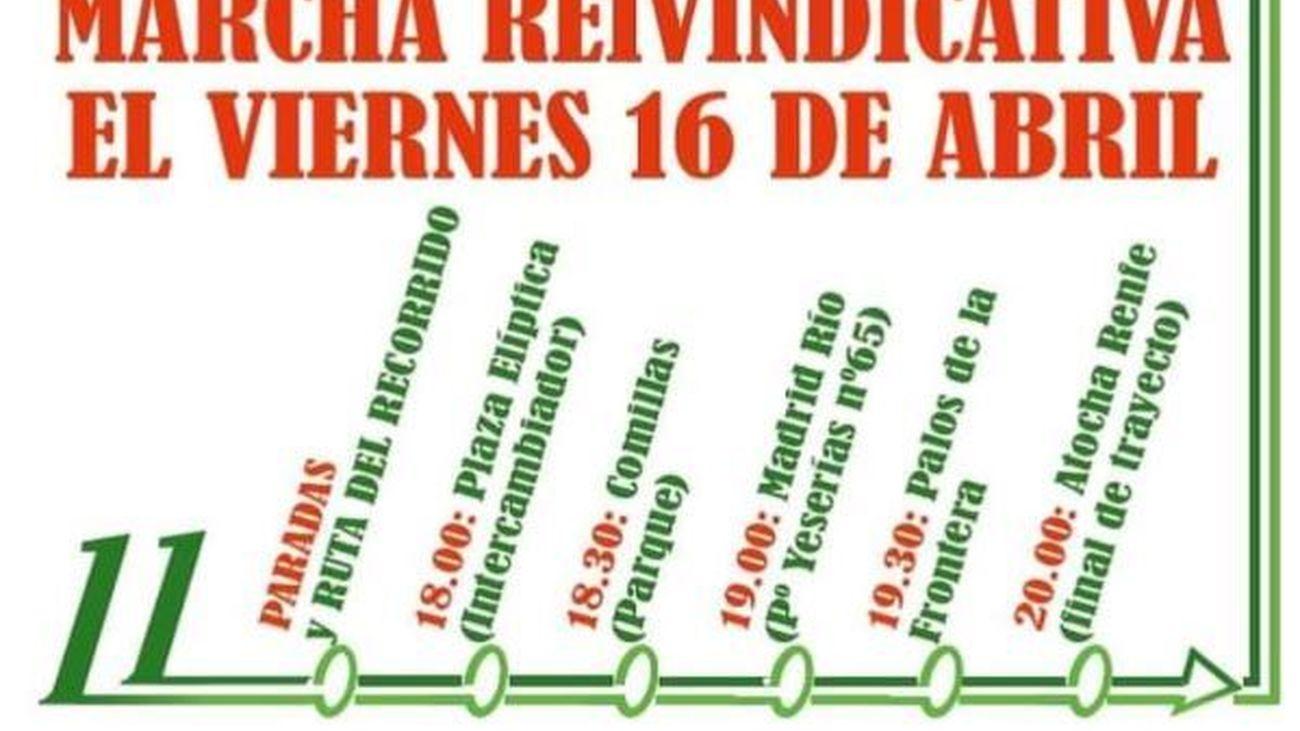 Vecinos de Carabanchel convocan una marcha reivindicativa por la prolongación de la L11 de Metro