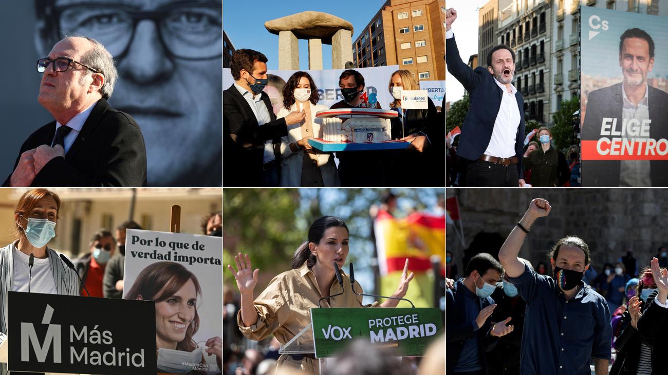 Los seis principales candidatos a la Presidencia de la Comunidad de Madrid