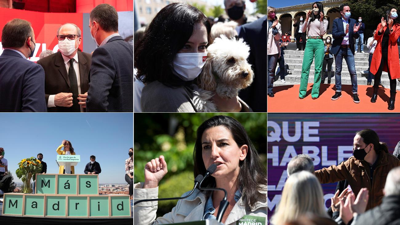 Primeros actos de campaña de los candidatos a las elecciones el 4-M