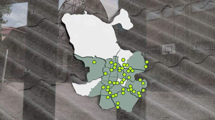 El mapa de los colegios públicos afectados por el amianto en la Comunidad de Madrid