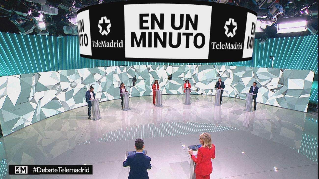 El minuto de oro, el último y trabajado mensaje de los candidatos en el debate de Telemadrid