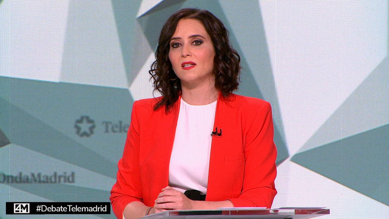 Díaz Ayuso en el debate de Telemadrid