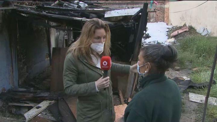 Arde una chabola en un descampado de La Elipa sin que se hayan producido heridos