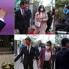 En moto, en taxi, andando, un retraso, algún selfie... El debate a seis empezó ya en la llegada a Telemadrid