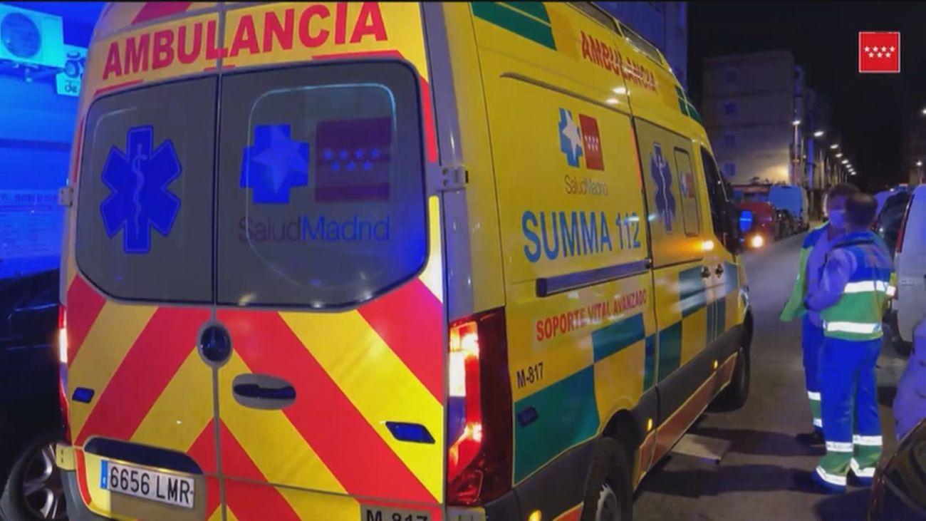 La mujer herida fue trasladada al hospital de Getafe