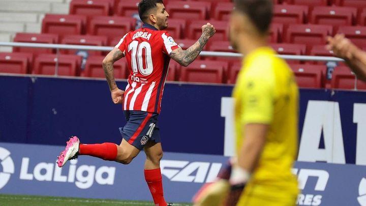 2-0. Correa mantiene líder al Atleti ante el Huesca