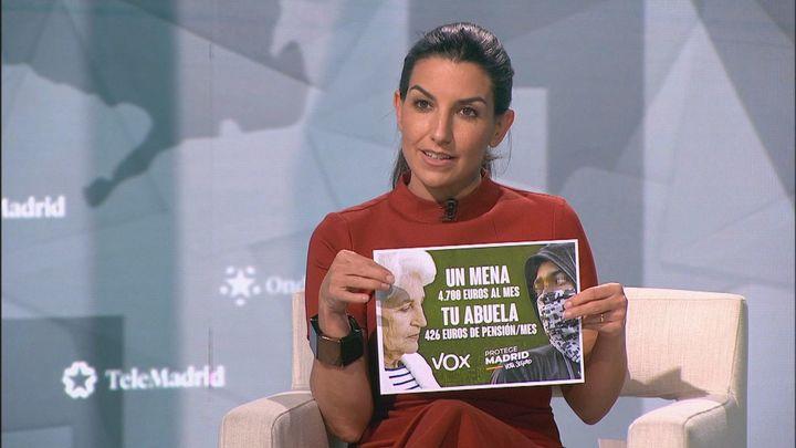"""Rocío Monasterio: """"No hay ninguna razón para decir que este cartel sobre los menas no dice la verdad"""""""
