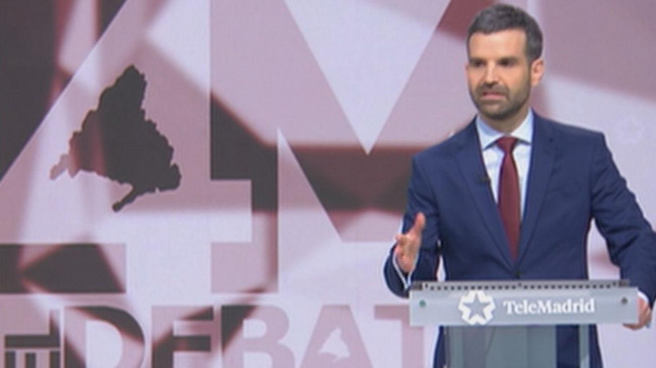 """Jon Ariztimuño resalta la repercusión del debate en Telemadrid: """"Hemos estado a la altura y estoy muy contento"""""""