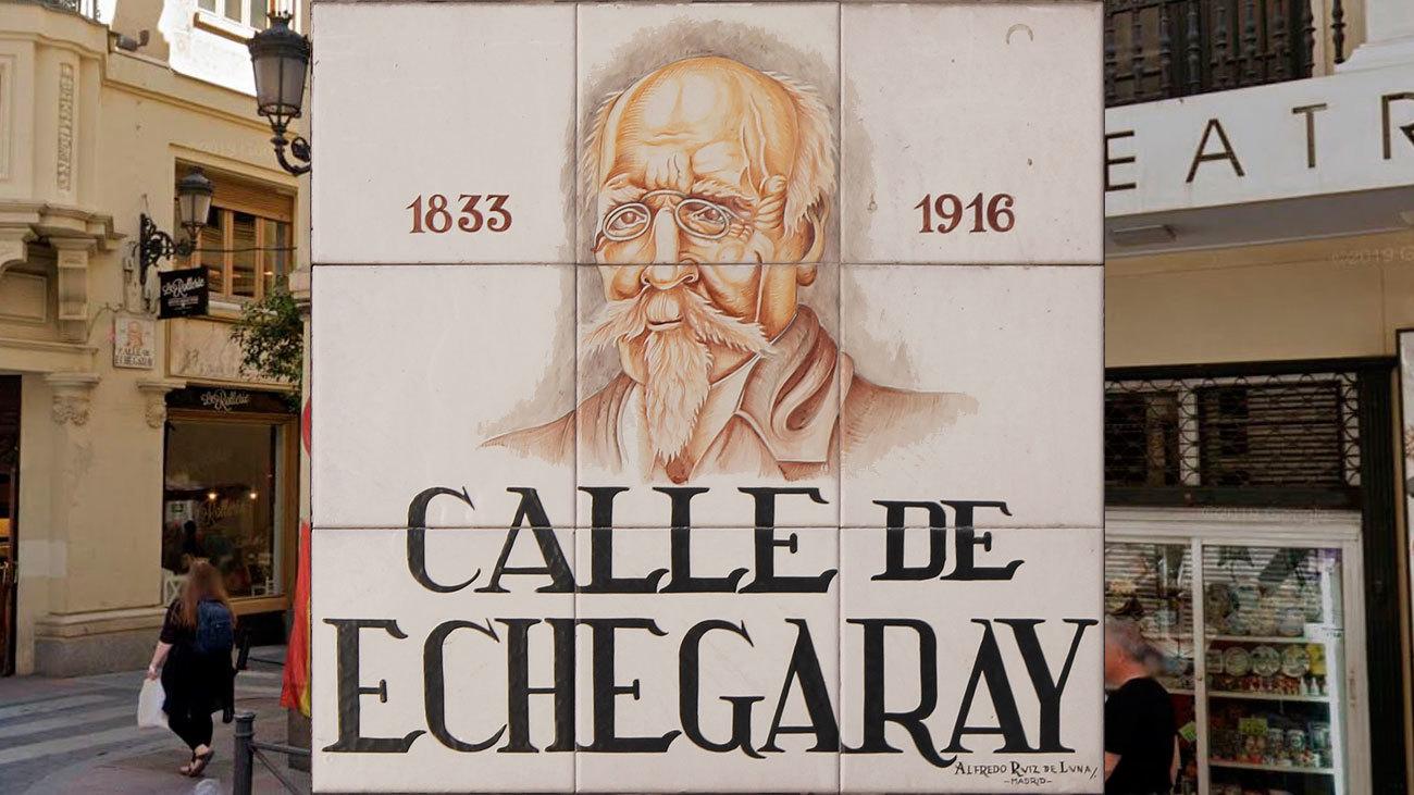 Placa de la calle Echegaray, Madrid